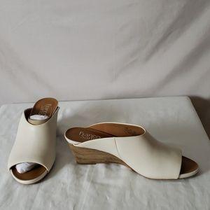 New Franco Sarto Sublin Leather Wedge Sandal